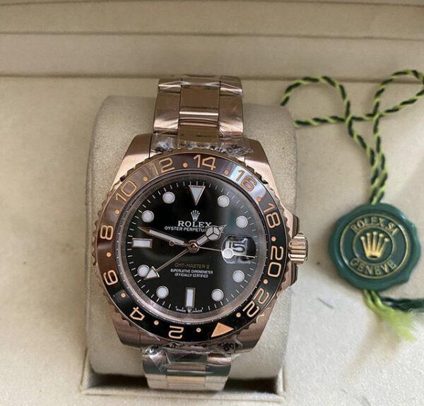 Réplica de relógio Rolex GMT Rosê