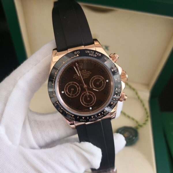 Réplica de relógio Rolex Daytona Borracha Chocolate