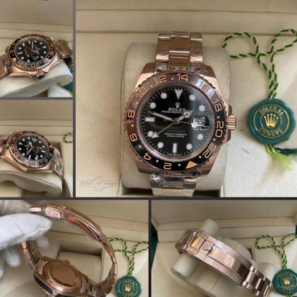 Réplica de relógio Rolex GMT Rosê 6