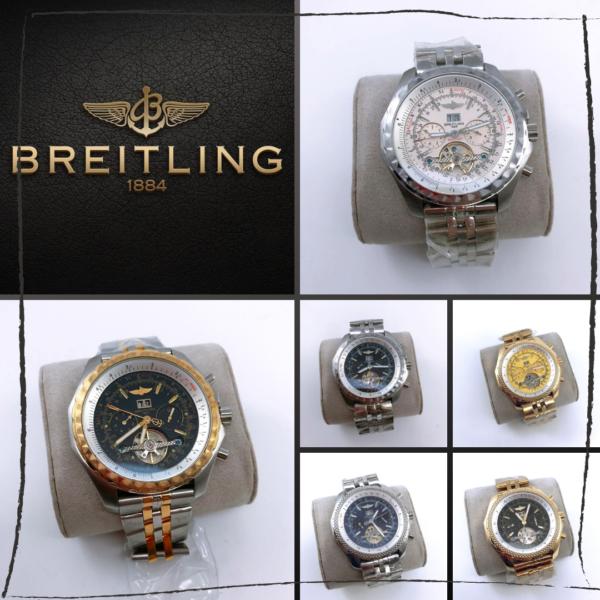 Réplica de relógio Breitling Automático – Prata/Dourado/Preto 2
