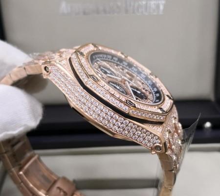Réplica de relógio Audemars Piquet Royal Todo em Pedras 5