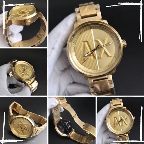 Réplica de relógio Armani Ax – Dourado 2