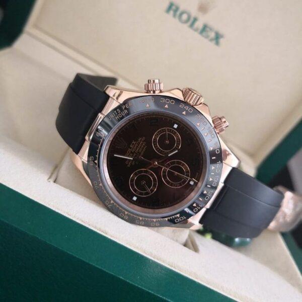 Réplica de relógio Rolex Daytona Borracha Chocolate 4