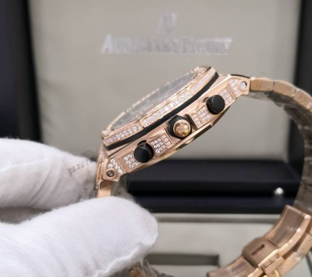Réplica de relógio Audemars Piquet Royal Todo em Pedras 4