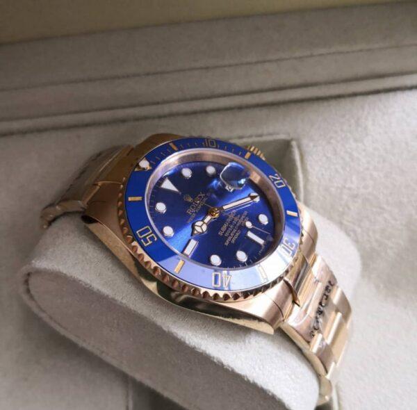 Réplica de relógio Rolex Submariner – Dourado/azul 3