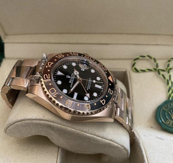 Réplica de relógio Rolex GMT Rosê 4