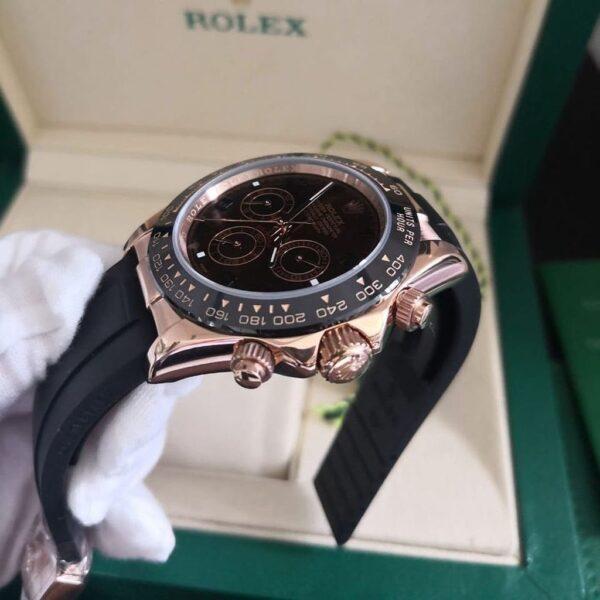 Réplica de relógio Rolex Daytona Borracha Chocolate 5