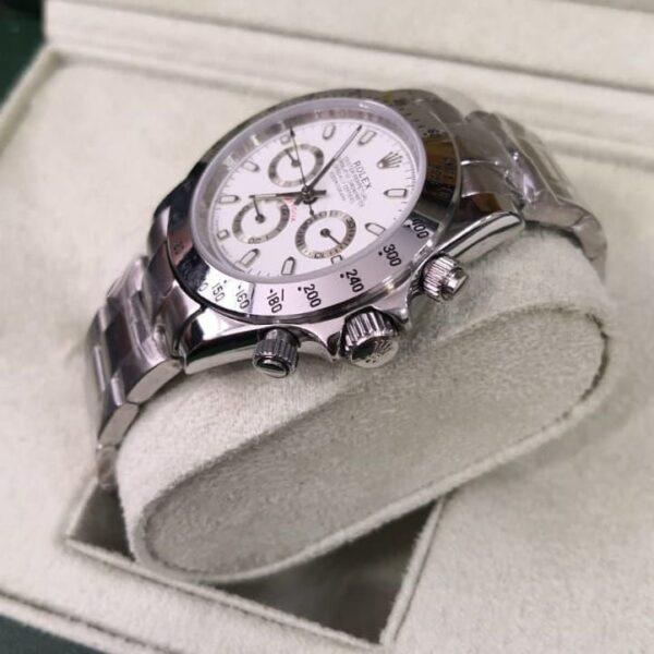 Réplica de relógio Rolex Daytona Prata 4