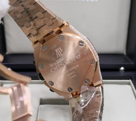 Réplica de relógio Audemars Piquet Royal Todo em Pedras 3