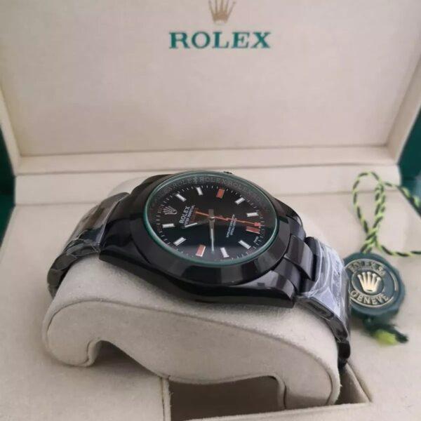 Réplica de relógio Rolex Milgaus Preto 2