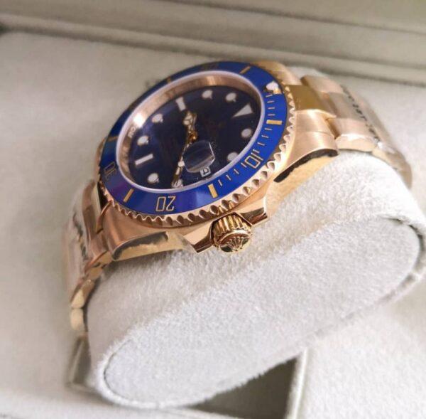Réplica de relógio Rolex Submariner – Dourado/azul 4