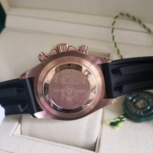 Réplica de relógio Rolex Daytona Borracha Chocolate 3