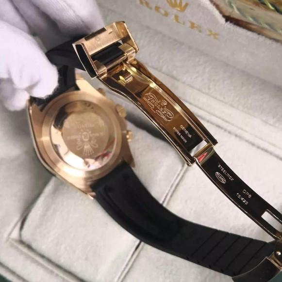 Réplica de relógio Rolex Daytona Borracha Dourado 2
