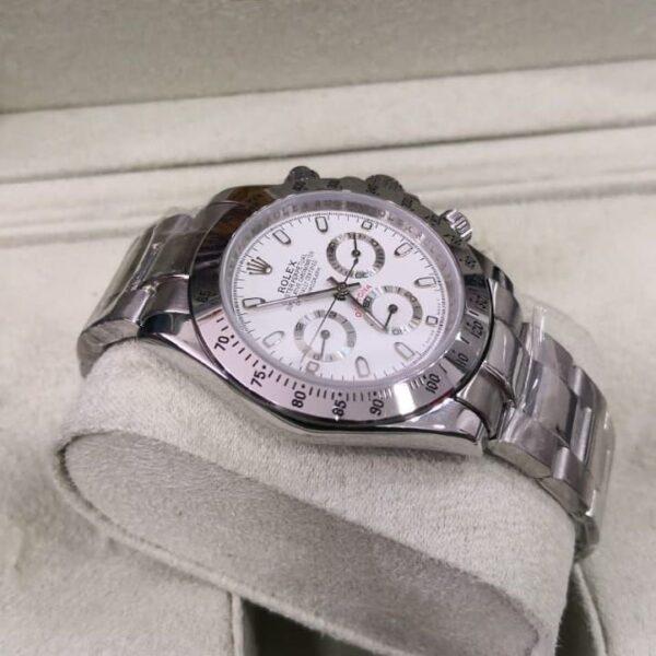 Réplica de relógio Rolex Daytona Prata 5
