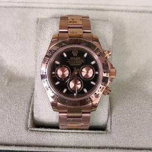 Réplica de relógio Rolex Daytona Rosê/Preto 4