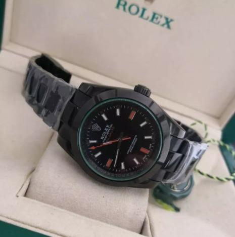 Réplica de relógio Rolex Milgaus Preto 3