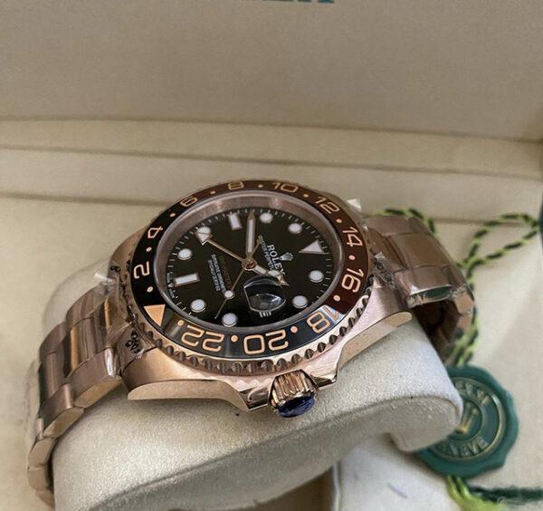 Réplica de relógio Rolex GMT Rosê 2