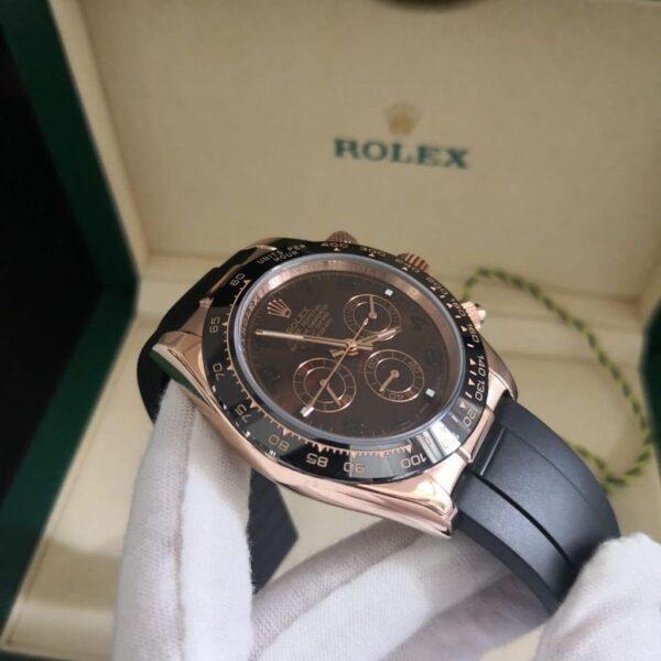 Réplica de relógio Rolex Daytona Borracha Chocolate 2