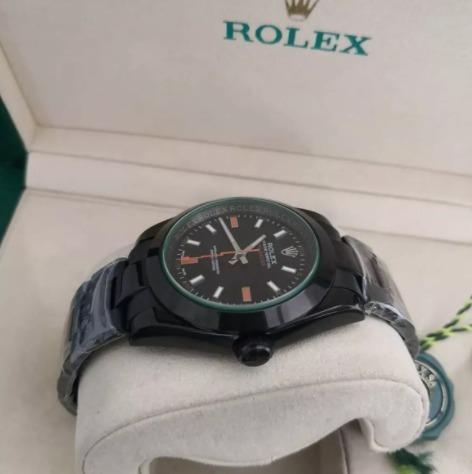 Réplica de relógio Rolex Milgaus Preto 4