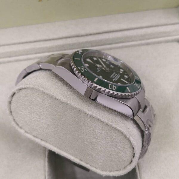 Réplica de relógio Rolex Submariner Prata/Verde 3
