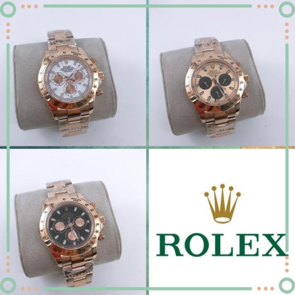 Réplica de relógio Rolex Daytona Rosê/Dourado 4