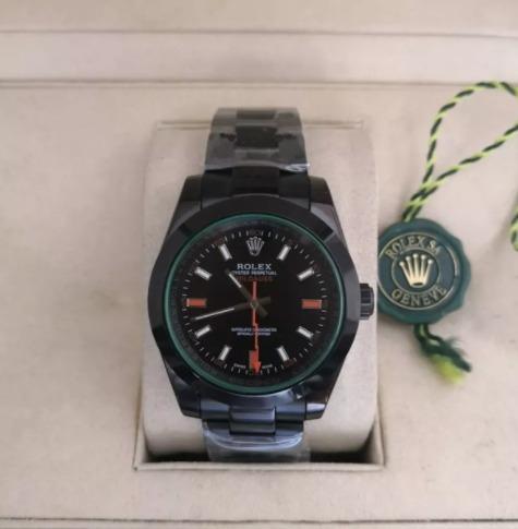 Réplica de relógio Rolex Milgaus Preto 6