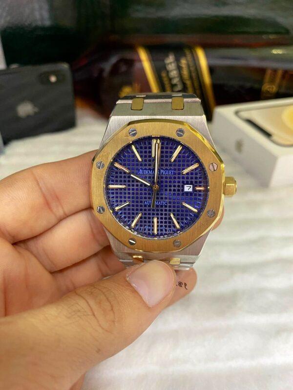 Réplica de relógio Audemars Piquet Royal Automático – Prata/Azul