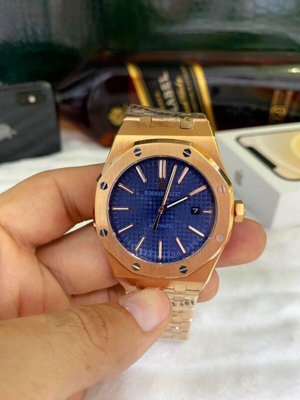 Réplica de relógio Audemars Piquet Royal Automático – Dourado/Azul