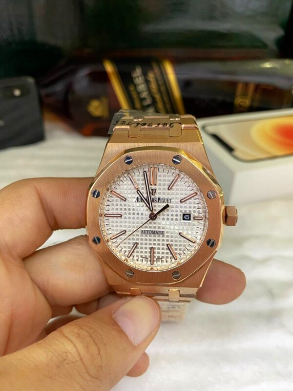 Réplica de relógio Audemars Piquet Royal Automático – Dourado/Branco
