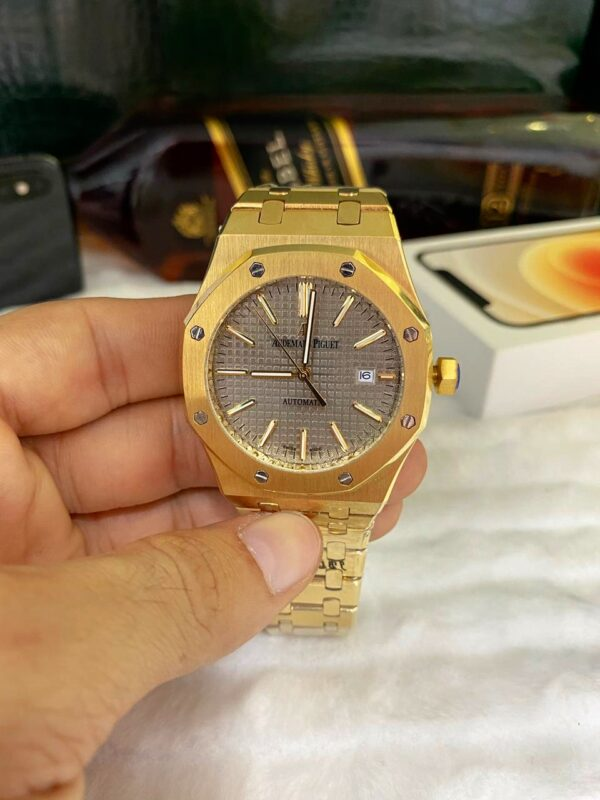 Réplica de relógio Audemars Piquet Royal Automático – Dourado/Prata