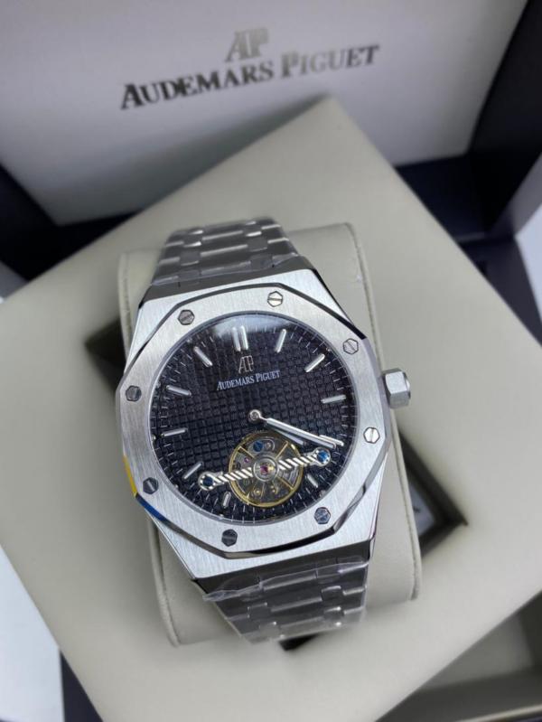 Réplica de relógio Audemars Piquet Royal Automático Aço – Prata/Preto