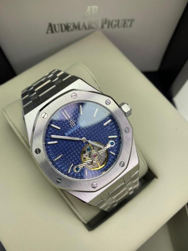 Réplica de relógio Audemars Piquet Royal Automático Aço – Prata/Azul