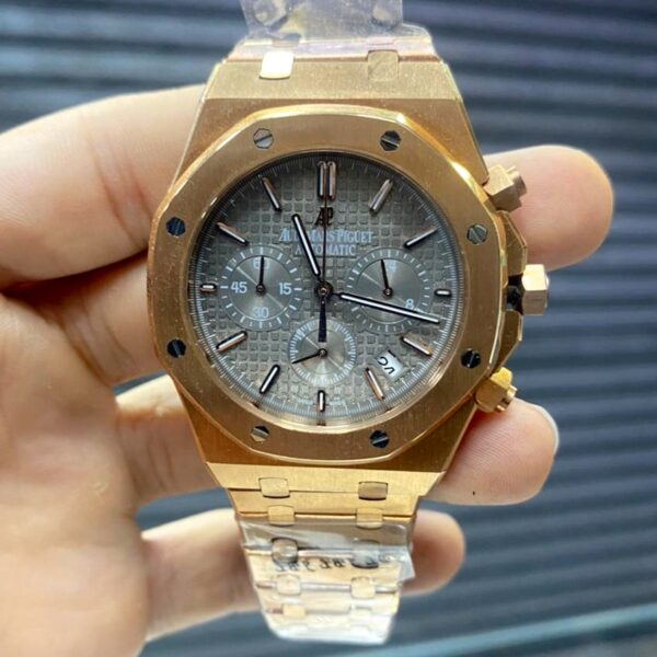 Réplica de relógio Audemars Piquet Royal Bateria – Dourado/Prata