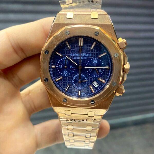 Réplica de relógio Audemars Piquet Royal Bateria – Dourado/Azul