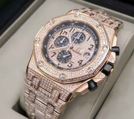 Réplica de relógio Audemars Piquet Royal Todo em Pedras