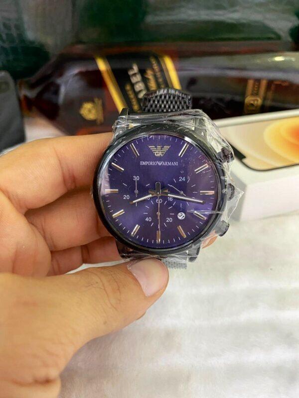Réplica de relógio Armani AR – Preto/Azul 2