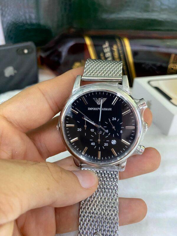 Réplica de relógio Armani AR – Prata/Preto