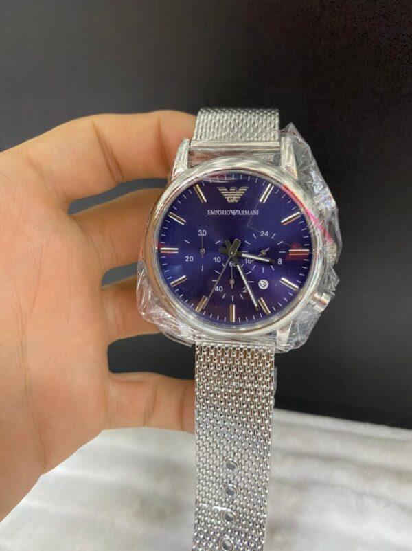 Réplica de relógio Armani AR- Prata/Azul