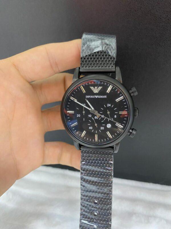 Réplica de relógio Armani AR – Preto/Detalhado