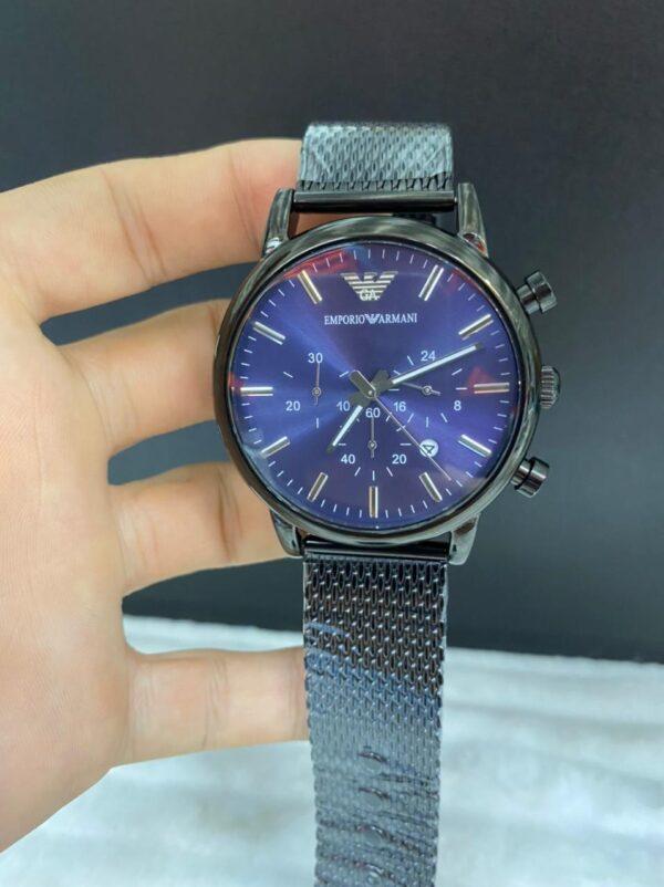 Réplica de relógio Armani AR – Preto/Azul