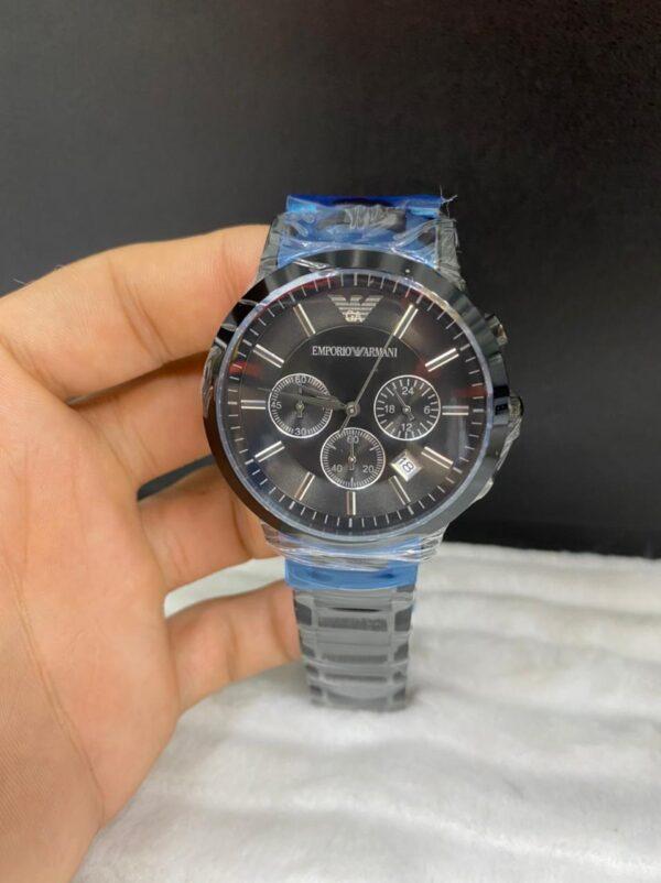 Réplica de relógio Armani Aço Crono – Preto