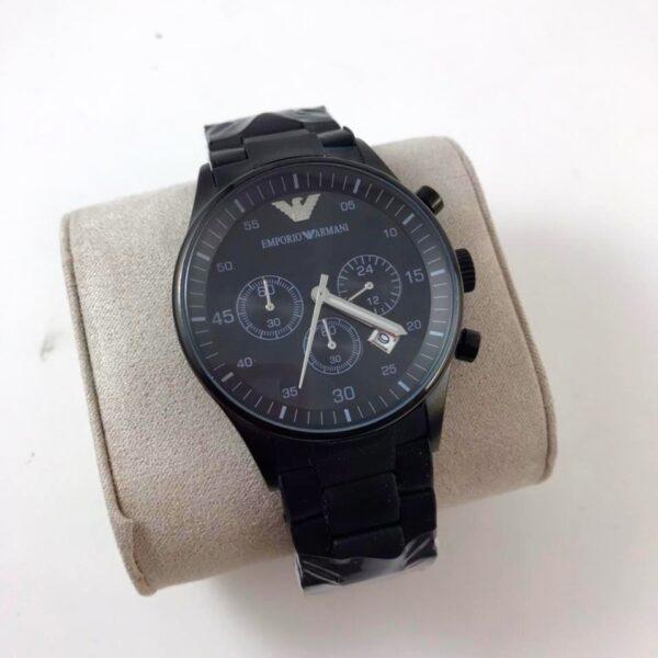 Réplica de relógio Armani Sport Borrachado – Preto