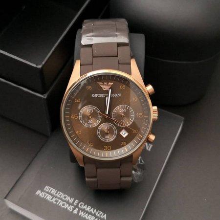 Réplica de relógio Armani Sport Borrachado – Café/Dourado
