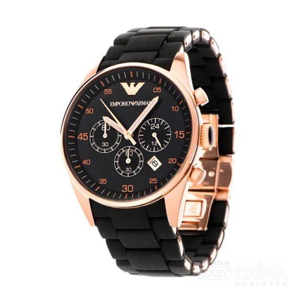 Réplica de relógio Armani Sport Borrachado – Preto/Dourado