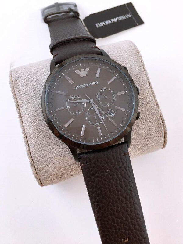 Réplica de relógio Armani Couro – Marrom