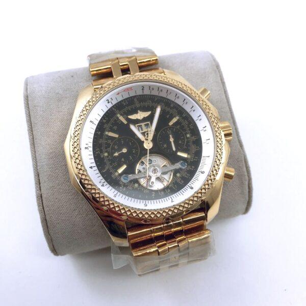 Réplica de relógio Breitling Automático – Dourado/Preto