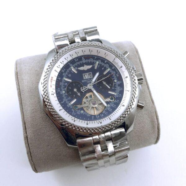 Réplica de relógio Breitling Automático – Prata/Azul