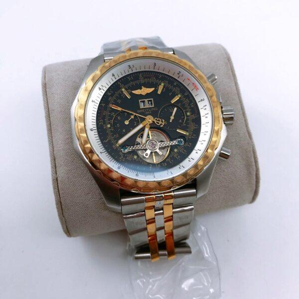 Réplica de relógio Breitling Automático – Prata/Dourado/Preto