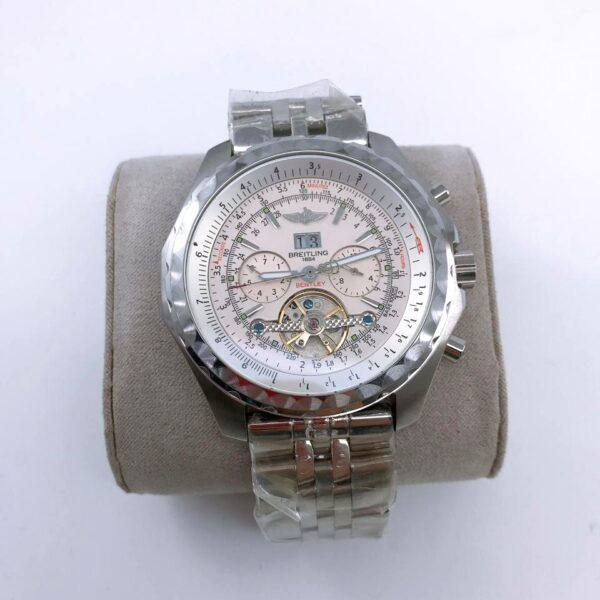 Réplica de relógio Breitling Automático – Prata/Branco