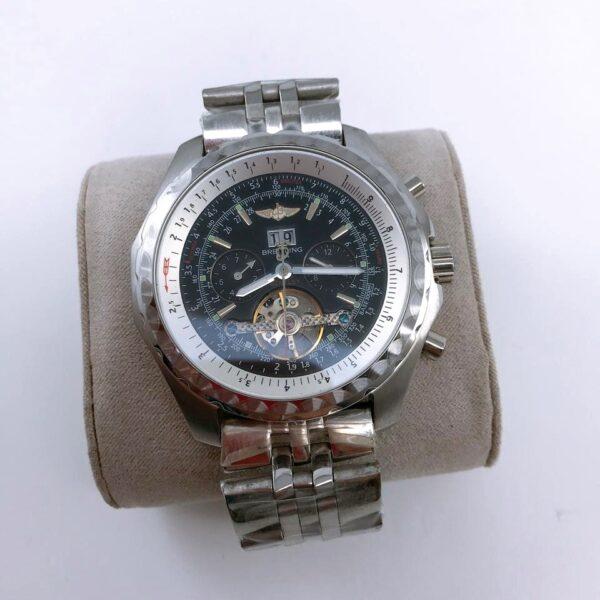 Réplica de relógio Breitling Automático – Prata/Preto